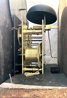 Antique Rolling Moon Phase Oak Mahogany Longcase Grandfather Clock HAYES WREXHAM 11