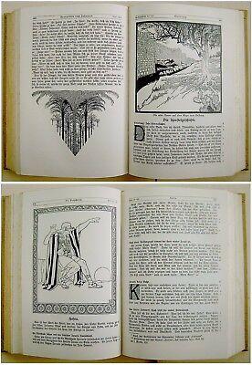 1912 SIGNED Bezalel LILIEN Luther BIBLE Jewish ART BOOK Art Nouveau JUGENDSTIL 6