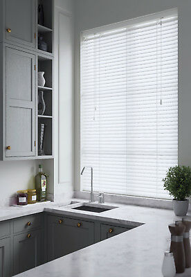 Faux Wood Impression Venetian Blinds - Made To Measure - 21 Colours 2