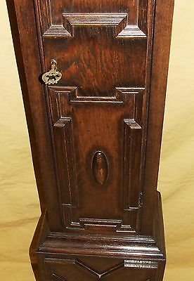 Antique 8 Day Miniature Grandfather / Grandmother Clock : Weight Driven Movement 7