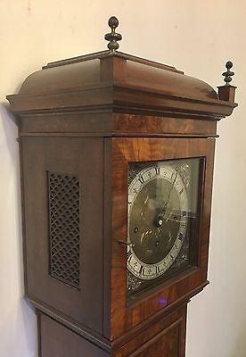 Elliott WESTMINSTER CHIME Burr Walnut Grandmother Miniature Grandfather Clock 5
