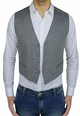 to buy new styles best place GILET GILET HOMME Diamond Class Gris sans Manches Cardigan Casual Élégant