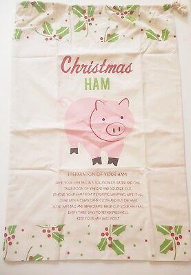 Christmas Ham Bag Xmas Large Size 61cm X 41cm 100% Cotton 4 Designs BRAND NEW !! 5