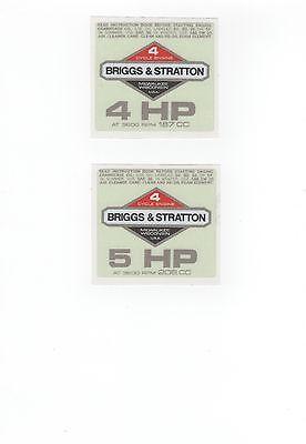 Briggs & Stratton Vintage Minibike Repro 'Off-White' Engine Decals 2