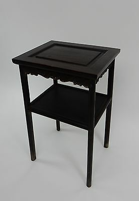 Gorgeous Antique Chinese Zitan Two tier  Wood Side Table RARE!!  28 inches 3