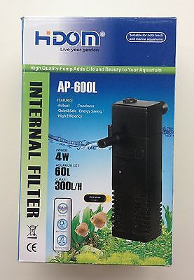 300l/h Aquarium Internal Filter for Fish Tank Submersible with Spray Bar NEW 2