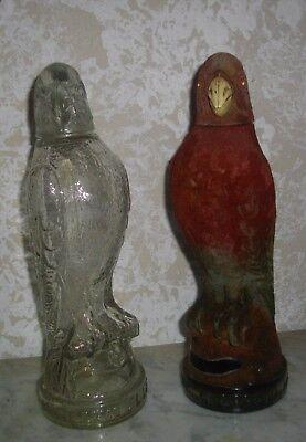 Dos Excelentes Licoreras De Cristal ( Vintage) De Licor Marca El Lorito