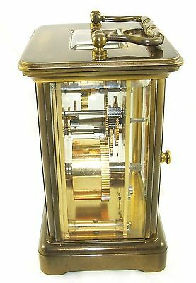 MATTHEW NORMAN LONDON SWISS MADE Brass Carriage Clock with Key : Working (49) 6