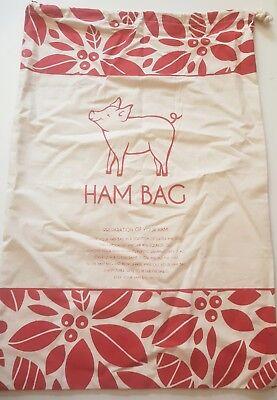 Christmas Ham Bag Xmas Large Size 61cm X 41cm 100% Cotton 4 Designs BRAND NEW !! 4