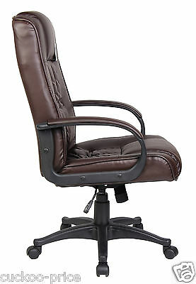 New Swivel Executive Office Furniture Computer Desk Office Chair in PU Leather 6