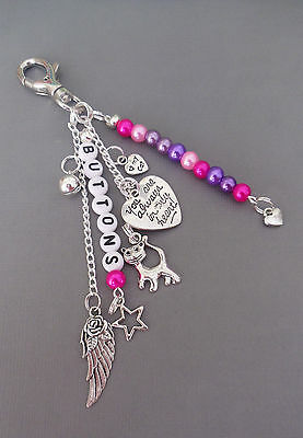 Pet Loss/In Memory memorial loss of cat, key/bag charm, personalised free 2