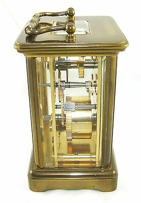 MATTHEW NORMAN LONDON SWISS MADE Brass Carriage Clock with Key : Working (49) 5