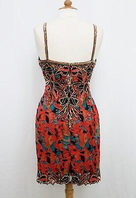 Jasdee Vintage Bead & Sequins Dress Hand Work & Hand Print On Silk Style 5007M 2