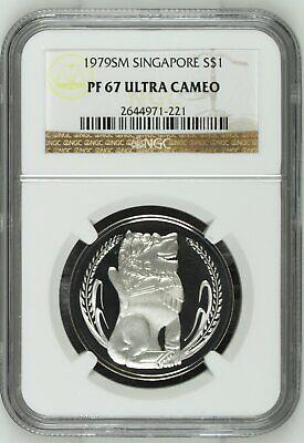 Singapore $1 Dollar 1979 PR67 UCAM NGC silver KM#6a 10k Mintage Gem White 5