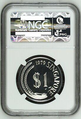 Singapore $1 Dollar 1979 PR67 UCAM NGC silver KM#6a 10k Mintage Gem White 6