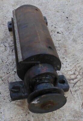 alte 🐷 Welle vom Maschine Drehmaschiene mit Umlenkrolle Ersatzteil für Bastler 8