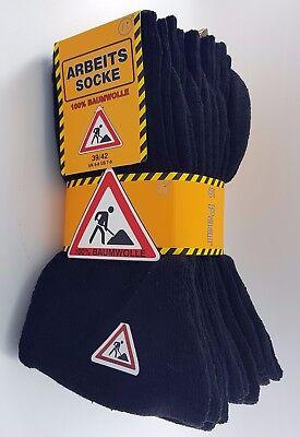 5-10-15 Paar Arbeitssocken Workersocks 100% Baumwolle Socken schwarz,anthrazit