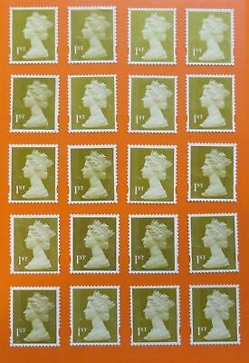 100 Genuine 1st Class Stamps Unfranked Off Paper WITH ORIGINAL GUM Self-Adhesive 3