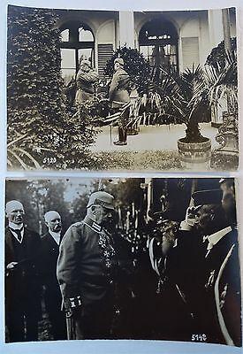 RARE Orig Photo LOT WWI German Soldier Hindenburg 1916 Ludendorff Kaiser Wilhelm 8