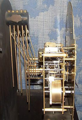 Antique Mahogany Grandmother Clock / Miniature Longcase : Westminster Chimes 12