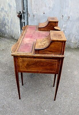 A lovely English Rosewood & Satinwood Marquetry Inlaid Writing Desk 7