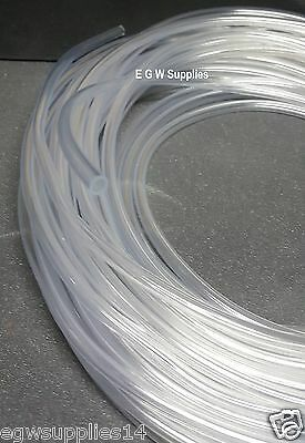 Clear 4mm Air Line Aquarium/Fish Tank/Pond Air Pump PVC Tube Hose Pipe UK Made 4