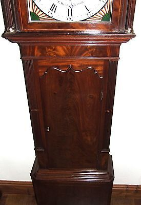 Antique Mahogany Halifax Moon Longcase Grandfather Clock by Thomas DEAN of LEIGH 7