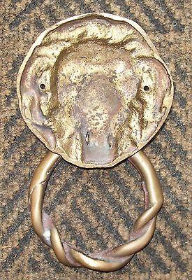Vintage Brass Lions Head Door Knocker 2