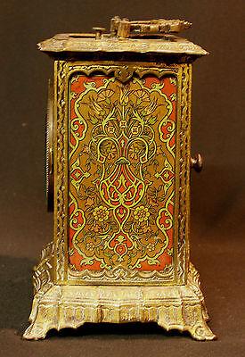 C1 1900 MUCHA superbe pendule pendulette Art nouveau bronze 17c1.7kg clock déco 4
