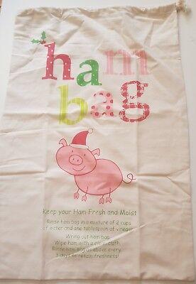 Christmas Ham Bag Xmas Large Size 61cm X 41cm 100% Cotton 4 Designs BRAND NEW !! 3
