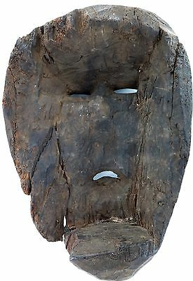 cLATE 1800s MIDDLE HILLS AREA HIMALAYAN CARVED WOODEN MASK, VERY IMPRESSIVE! #3 6