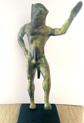 Ancient Greek Bronze Museum Mythology Statue Replica Satyrus Satyr Pan Dionysus 2