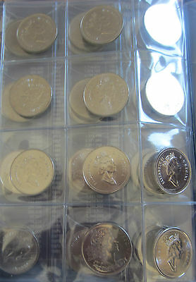 Complete Set of Canada Half Dollars Coins (1968-2013) In UNI-Safe Blue Book 2