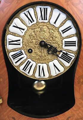 Franz Hermle Inlaid Walnut TING TANG Mantel Bracket Clock Antique Louis XV Style 8