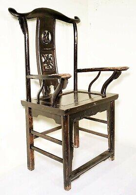 Antique Chinese High Back Arm Chairs (5755) (Pair), Circa 1800-1849 2