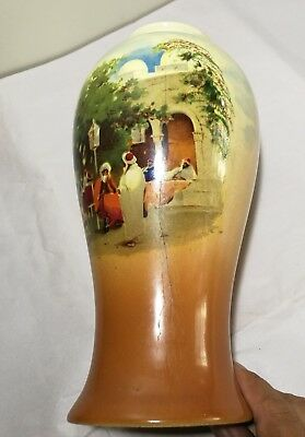 Vintage UK Empire Ware 1930s porcelain hand painted Vase H26cm 7