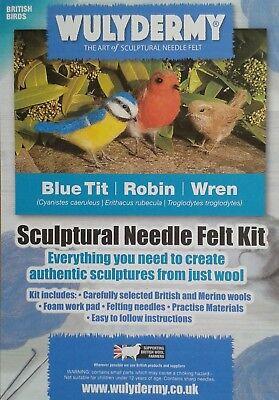 Needle felting kit British Birds British wool Unboxed 6
