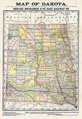 110 MAPS NORTH South DAKOTA state PANORAMIC old genealogy lots ...
