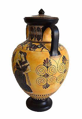 Dionysos with Maenads-Amasis-Ancient Greek Amphora Replica-Cabinet des Médailles 3
