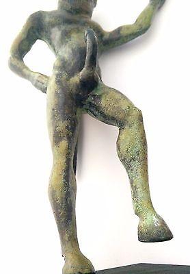Ancient Greek Bronze Museum Mythology Statue Replica Satyrus Satyr Pan Dionysus 9
