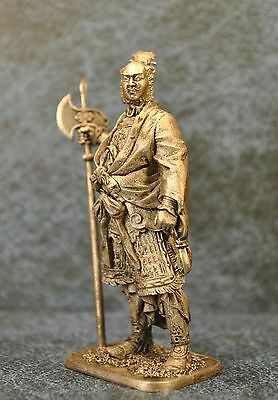 54-37 Tin Army Tin Toy Soldiers Metal Sculpture Miniature Figure Collection 54mm Chinese Medieval General Scale 1//32