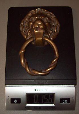 Vintage Brass Lions Head Door Knocker 6