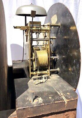~ Antique Inlaid Mahogany Longcase Grandfather Library Clock : DARLING EDINBURGH 12