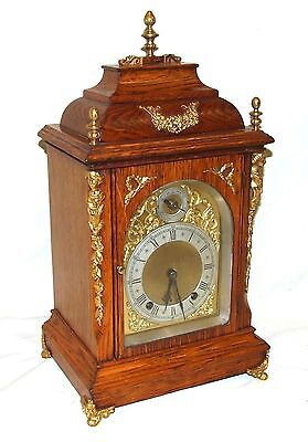 Antique Oak & Ormolu TING TANG Bracket Mantel Clock : Winterhalder W & H (a27) 2