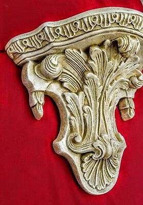 Antique Finish Shelf Acanthus leaf Tassel Wall Corbel Sconce Bracket Vintage 5