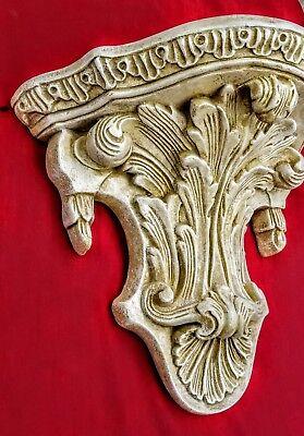 Vintage Shelf Acanthus leaf Tassel Wall Corbel Sconce Bracket 5