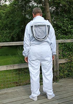 White Beekeepers Bee Suit with Fencing Veil - All Sizes 2