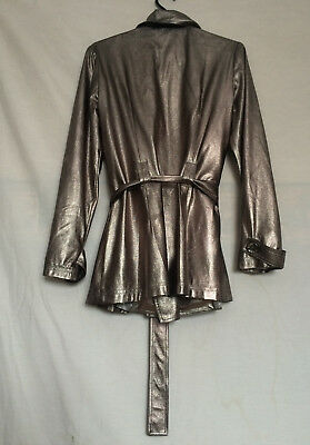 Womens Joseph Ribkoff Jacket Sz 12 Silver Lined Long Sleeves Polyester 2