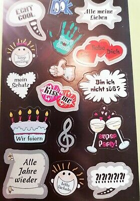 Fotosticker Sprechblasen Liebe Hochzeit Love Fotoalbum Aufkleber Stickerbogen