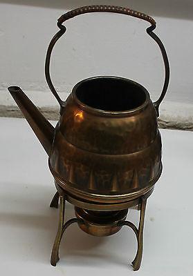 kettle spirit copper art nouveau signed teapot samovar jugendstil arts and craft 6